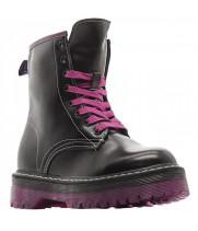 Ботинки Dr. Martens 1490 Vetemens черные с розовым