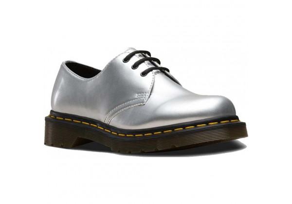 Ботинки Dr. Martens 1461 Metallic Chrome серый
