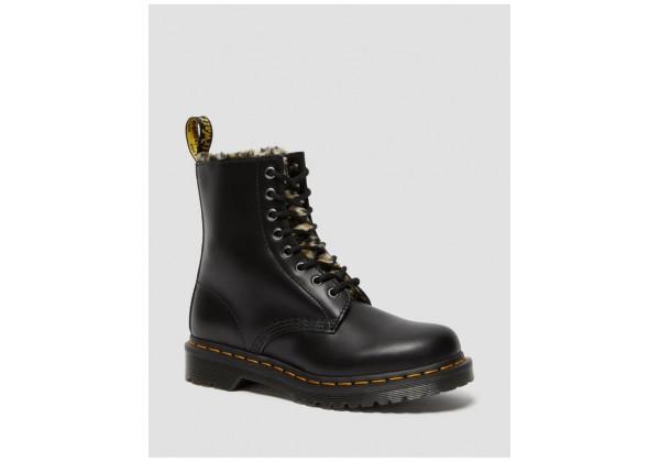Обувь Dr. Martens LEOPARD зимние черные