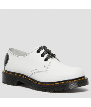 Ботинки Dr. Martens 1461 Hearts White белые