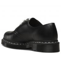 Ботинки Dr. Martens 1461 Black Smooth Contrast White Stitch черные