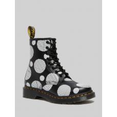 Ботинки Dr. Martens 1460 Smooth Polka Dot черные