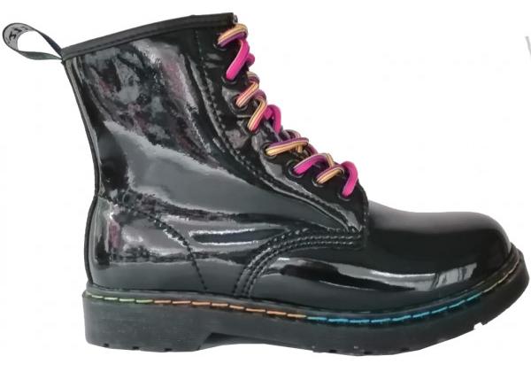 Ботинки Dr. Martens Rainbow Patent черные