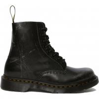 Ботинки Dr. Martens 1460 Pascal Metallic Silver Brush Off черные