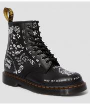 Ботинки Dr. Martens Scribble Backhand черные