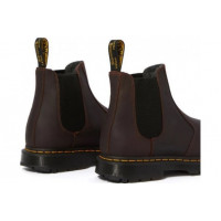 Ботинки Dr. Martens CHELSEA LEONORE с мехом коричневые