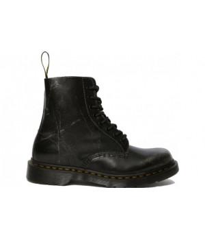 Ботинки Dr. Martens 1460 PASCAL METALLIC SILVER черные