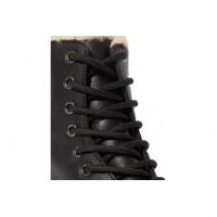 Ботинки Dr. Martens 1460 JADON с мехом черные на платформе