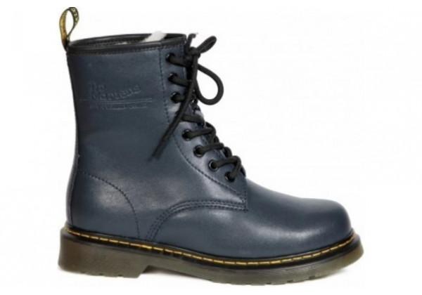 Ботинки Dr. Martens 1460 SMOOTH FLEECE с мехом темно-синие