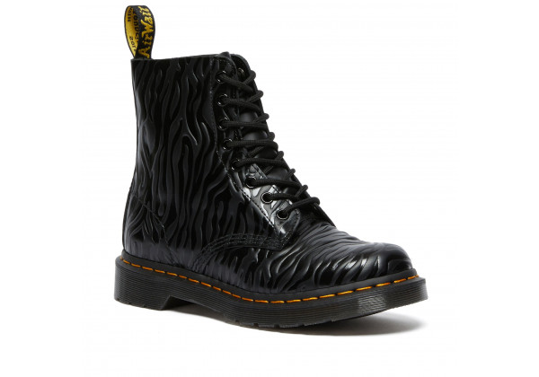 Ботинки Dr. Martens 1460 Pascal Zebra Emboss черные