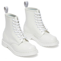 Ботинки Dr. Martens 1460 Mono Patent Lamper белые