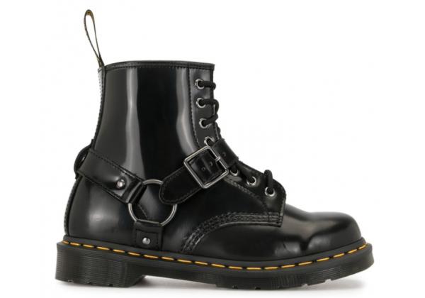 Ботинки Dr. Martens 1460 с цепочками черные