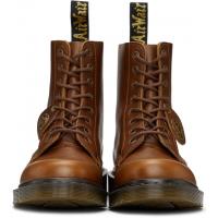 Ботинки Dr. Martens 1460 Pascal с лого коричневые